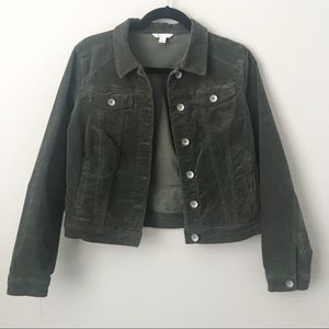 CATO Green Corduroy button up Jacket